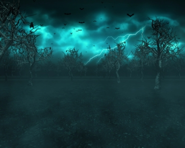 Haunted Halloween Bat Grove Screensaver